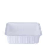 1Ltr White Ribbed Container (0037)